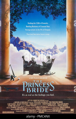 Cary Elwes, Robin Wright, Mandy Patinkin,  The Princess Bride (20th Century Fox, 1987). Poster File Reference # 33595 908THA