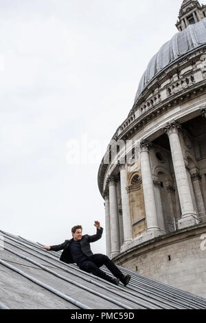 Tom Cruise as Ethan Hunt in MISSION: IMPOSSIBLE - FALLOUT, from Paramount Pictures and Skydance. (2018) - Stock Photo