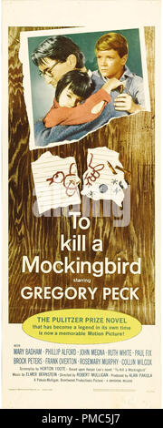 Gregory Peck,  To Kill a Mockingbird (Universal, 1963). Poster   File Reference # 33635_111THA - Stock Photo