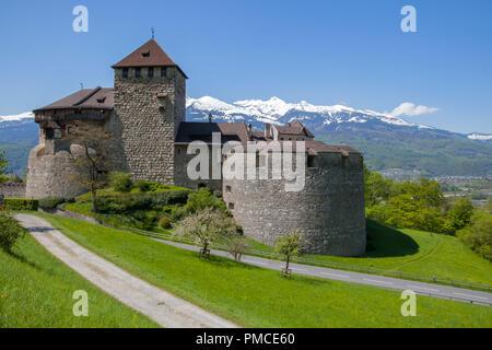 Residance of Prince in Vaduz Castle in Liechtenstein - Stock Photo
