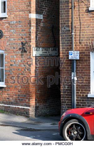 East Street Lane, Blandford, Dorset, England, UK - Stock Photo
