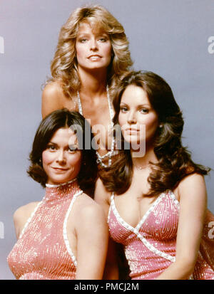 Kate Jackson, Farrah Fawcett, Jaclyn Smith,  'Charlie's Angels' (1976) Columbia Pictures Television   File Reference # 33650 184THA  For Editorial Use Only -  All Rights Reserved - Stock Photo
