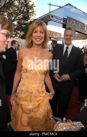Arrivals at the  'Golden Globe Awards - 62nd Annual' Allison Janney, Tim Robbins 1-16-2005  File Reference # 1080_097PLX  For Editorial Use Only - - Stock Photo
