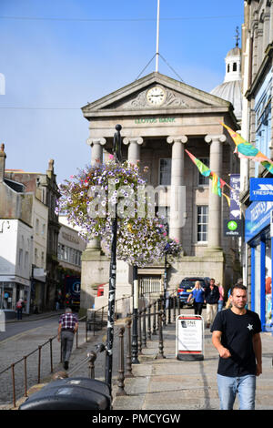 Lloyds Bank in the old Market House, Market Jew Street, Penzance, Cornwall UK - Stock Photo