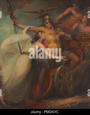 'The Triumph of Mercy,' from Collins' 'Ode To Mercy'. Date/Period: 1788 to 1790. Painting. Oil on canvas. Height: 2,413 mm (95 in); Width: 2,045 mm (80.51 in). Author: William Artaud. - Stock Photo