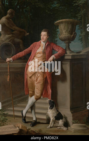 Portrait of John Talbot, later 1st Earl Talbot. Date/Period: 1773. Painting. Oil on canvas. Height: 2,743 mm (107.99 in); Width: 1,822 mm (71.73 in). Author: Pompeo Batoni. - Stock Photo
