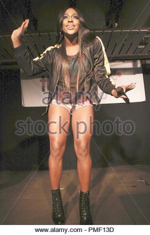 Alexandra Burke performs in Leeds - Stock Photo