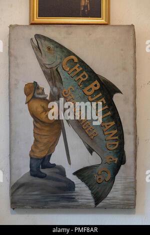 Stavanger Canning Museum. Called Norsk hermetikkmuseum in Norwegian. Located on Øvre Strandgate 88, in Gamle Stavanger - Old Stavanger. - Stock Photo