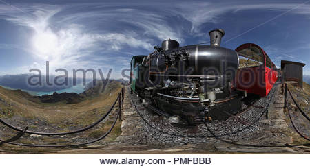 Steam Engine of the Brienz - Rothorn Bahn - Stock Photo