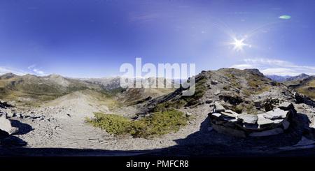 le 100913, Col Du Granon dans les Hautes Alpes (05) France - Stock Photo