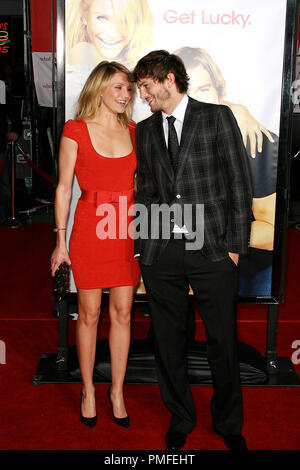 'What Happens In Vegas...' Premiere  Ashton Kutcher, Cameron Diaz 5-1-2008 / Mann Village Theater / Hollywood, CA / Twentieth Century Fox / Photo © Joseph Martinez / Picturelux  File Reference # 23507 0053JM   For Editorial Use Only -  All Rights Reserved - Stock Photo