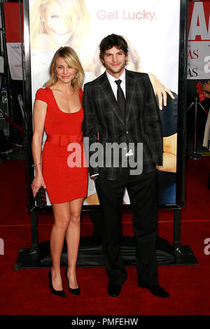 'What Happens In Vegas...' Premiere  Ashton Kutcher, Cameron Diaz 5-1-2008 / Mann Village Theater / Hollywood, CA / Twentieth Century Fox / Photo © Joseph Martinez / Picturelux  File Reference # 23507 0052JM   For Editorial Use Only -  All Rights Reserved - Stock Photo