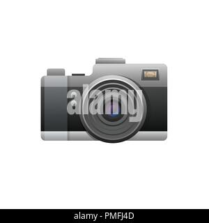 Web camera black on white background. Illustration - Stock Photo