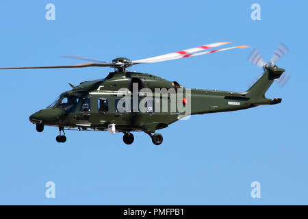 AgustaWestland (Leonardo) AW149 military helicopter of the Italian Air force - Stock Photo