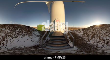 Whitelee Wind Farm , Turbine 42 , Eaglesham Moor , Glasgow - Stock Photo