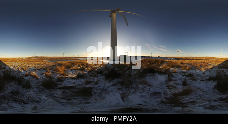 Whitelee Wind Farm , Turbine 42, Eaglesham Moor , Glasgow (2) - Stock Photo
