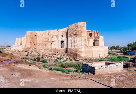 Panoramic view of Harran Castle ruins in Harran,Sanliurfa,Turkey - Stock Photo