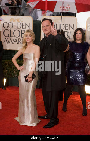 Nominated for BEST DIRECTOR Ð MOTION PICTURE for  ÒInglourious BasterdsÓ Director Quentin Tarantino with actress Melanie Laurent attend the 67th Annual Golden Globes Awards at the Beverly Hilton in Beverly Hills, CA Sunday, January 17, 2010. - Stock Photo