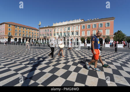 Place Masséna, Nice, Cote d'Azur, France - Stock Photo