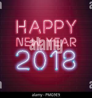 2017 new year shining neon banner vector illustration pmg9e9