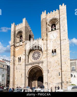 Lisbon Cathedral (Sé de Lisboa), Lisbon, Portugal - Stock Photo