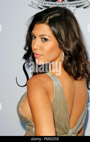 Kourtney Kardashian at the Aces and Angels Celebrity Poker at the Playboy Mansion Event - Arrivals held at the Holmby Hills Mansion in Los Angeles, CA July 11, 2009. Photo by: PictureLux File Reference # 30041 49PLX   For Editorial Use Only -  All Rights Reserved - Stock Photo