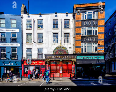 Dublin, Ireland, March 2018, front entrance of the Olympia Theatre in Dame street in the Temple Bar district - Stock Photo
