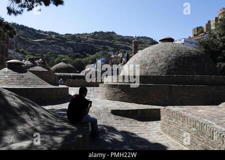 Tbilisi, Georgia. 17th Sep, 2018. TBILISI, GEORGIA - SEPTEMBER 17, 2018: Sulphur baths. Artyom Geodakyan/TASS Credit: ITAR-TASS News Agency/Alamy Live News - Stock Photo