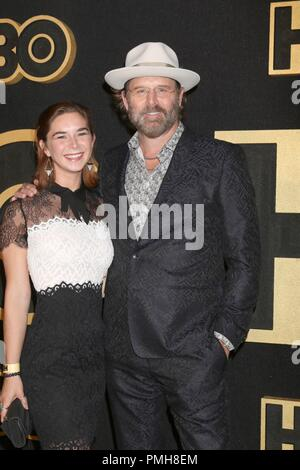 Daughter, Jeffrey Nordling at arrivals for HBO Emmy Awards After-Party, Pacific Design Center, Los Angeles, CA September 17, 2018. Photo By: Priscilla Grant/Everett Collection - Stock Photo