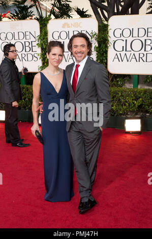 Robert Downey, Jr. and wife Susan Downey attend the 68th Annual Golden Globe Awards at the Beverly Hilton in Beverly Hills, CA on Sunday, January 16, 2011.  File Reference # 30825_834  For Editorial Use Only -  All Rights Reserved - Stock Photo