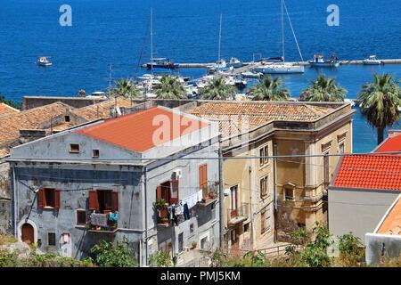 Port of Milazzo, Sicily, Italy - Stock Photo