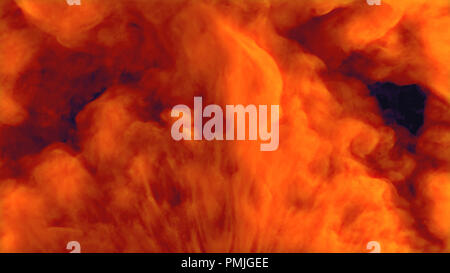 Realistic smoke puff. Bright red isolated explosion - Stock Photo