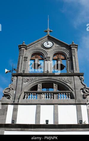 Parish Church of San Roque - town church was built in 1502 in Firgas town, Gran Canaria, Spain, - Stock Photo