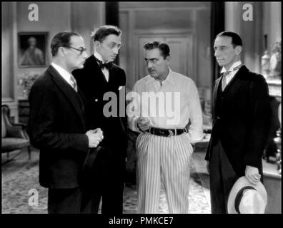 Prod DB © Metro-Goldwyn-Mayer / DR ARSENE LUPIN (ARSENE LUPIN) de Jack Conway 1932 USA avec Mischa Auer et John Barrymore d'apres la piece de Francis de Croisset d'apres le personnage de Maurice Leblanc code MGM: 596 - Stock Photo