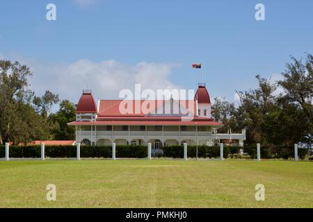The Royal Palace is a wooden palace and the official residence of the King of Tonga in the capital Nukuʻalofa, Kingdom of Tonga - Stock Photo