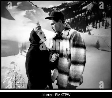 Prod DB © Hugo Haas Productions / DR BAIT de Hugo Haas 1954 USA avec Cleo Moore et John Agar neige, hiver, froid, montagne - Stock Photo
