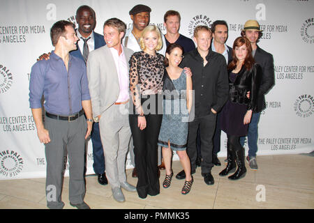 Jamie King, Scott Porter, Adam Harrington, Wilson Bethel, Andrew Miller, Nicole Snyder, Nestor Carbonell, Cress Williams, Mike Colter, Leila Gerstein, Eric Charmelo 09/07/11, PaleyFest 2011 Fall Previews Party: THE CW @ The Paley Center for Media, Beverly Hills Photo By Manae Nishiyama/ HollywoodNewsWire.net/ PictureLux - Stock Photo