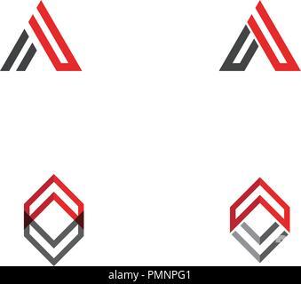 A Letter Logo Template vector icon illustration design - Stock Photo
