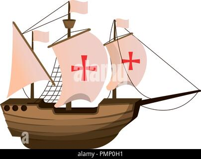 wood ship transport navigation explore - Stock Photo