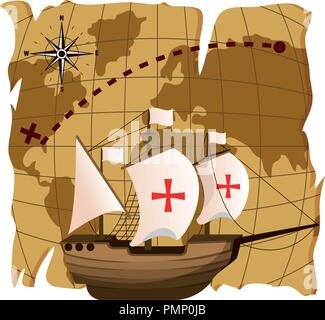 ship navigation transport to america destination - Stock Photo