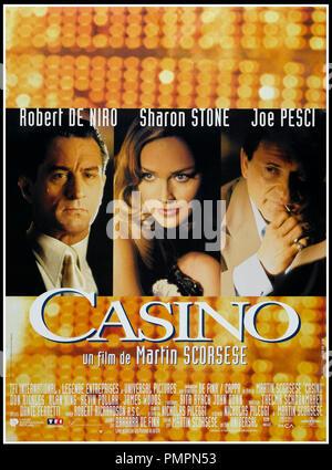 Prod DB © Universal / DR CASINO de Martin Scorsese 1995 USA affiche française avec Robert De Niro, Sharon Stone et Joe Pesci mafia d'apres le livre de Nicholas Pileggi - Stock Photo