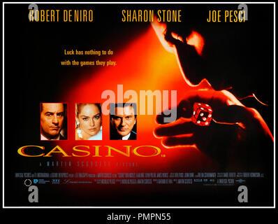Prod DB © Universal / DR CASINO de Martin Scorsese 1995 USA affiche quad anglaise avec Robert De Niro, Sharon Stone et Joe Pesci mafia d'apres le livre de Nicholas Pileggi - Stock Photo