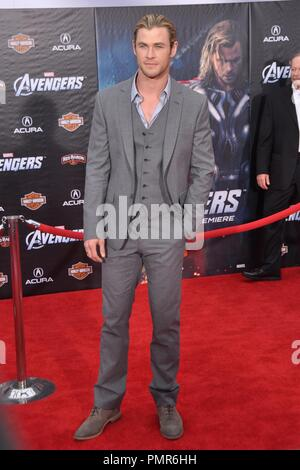 Chris Hemsworth at 'Marvel's The Avengers' Premiere. Arrivals held at ELCapitan Theatre in Los Angeles, CA, April 11, 2012. Photo by M.Adams / PictureLux - Stock Photo