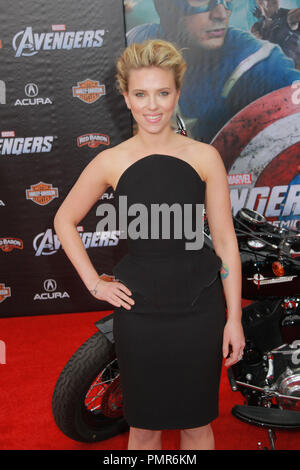 Scarlett Johansson 04/11/2012 'Marvel's The Avengers' Premiere held at El Capitan Theater in Hollywood, CA Photo by Manae Nishiyama / HollywoodNewsWire.net / PictureLux - Stock Photo