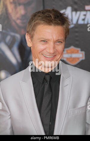 Jeremy Renner 04/11/2012 'Marvel's The Avengers' Premiere held at El Capitan Theater in Hollywood, CA  Photo by Manae Nishiyama / HollywoodNewsWire.net / PictureLux - Stock Photo