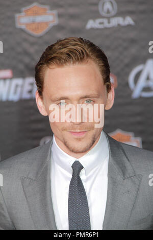Tom Hiddleston 04/11/2012 'Marvel's The Avengers' Premiere held at El Capitan Theater in Hollywood, CA Photo by Manae Nishiyama / HollywoodNewsWire.net / PictureLux - Stock Photo