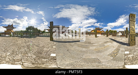 Old Town of Lijiang of the ancient architecture——Mu Family Mansion - Stock Photo