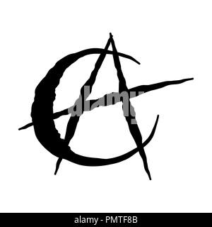 Islam anarchism icon isolated on white background - vector iconic Design. - Stock Photo