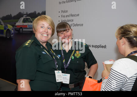 Birmingham,UK,19th September 2018,The Emergency Services Show takes place at the NEC in Birmingham. It runs for 2 days and offers ALL emergency workers a great place to network and learn with over 450 Exhibitors and many service vehicles on display inside and outdoors. There are also many free seminars covering different subjects, all in all a interesting and educational day out. Credit: Keith Larby/Alamy Live News - Stock Photo