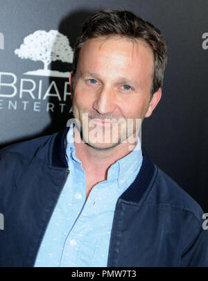 Beverly Hills, USA. 19th Sep 2018. Actor Breckin Meyer attends Los Angeles Premiere of 'Fahrenheit 11/9' on September 19, 2018 at Samuel Goldwyn Theater in Beverly Hills, California. Photo by Barry King/Alamy Live News - Stock Photo